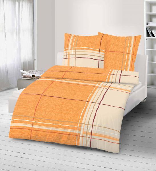 Renforce Bettwäsche 2tlg. 135/200 cm 47882-411 orange