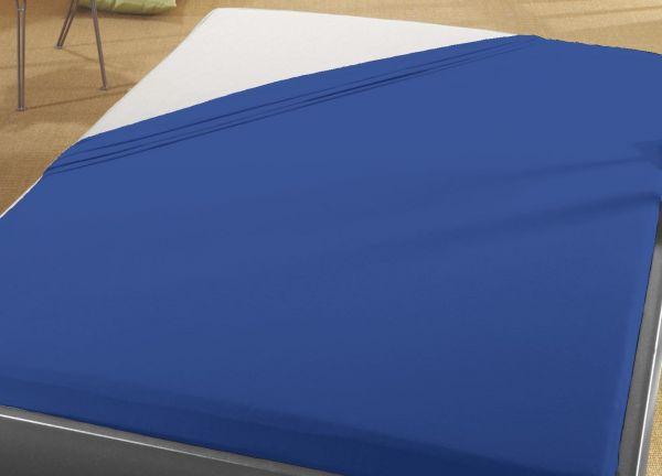 Jersey Spann Betttuch 100% Baumwolle 90x200 cm  -  100x200 cm    royal