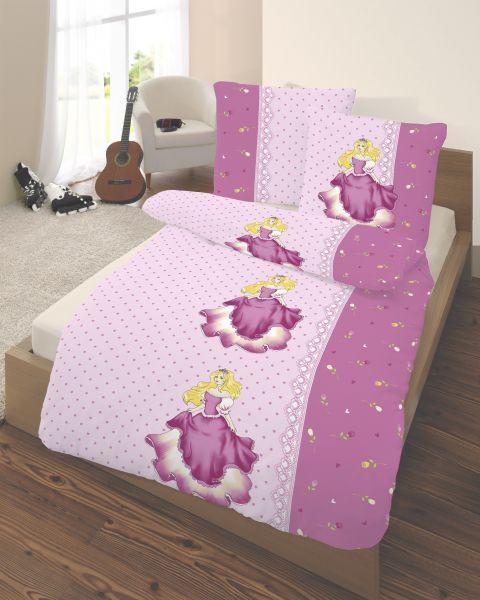 Biber Bettwäsche 2tlg. 135/200 cm 47922-201 Prinzessin pink
