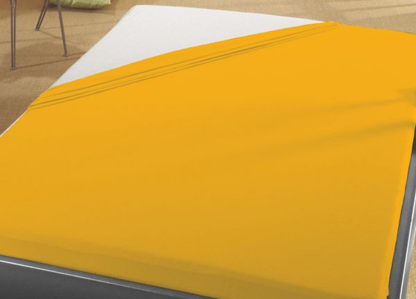 Jersey Spann Betttuch 100% Baumwolle 90x200 cm  -  100x200 cm    weizen