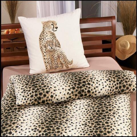 Biber Bettwäsche 2tlg. 135/200 cm 4057-19 Gepard beige